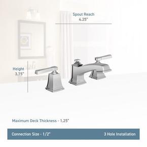 Boardwalk chrome two-handle bathroom faucet