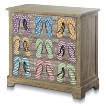 KEY WEST CHEST  34in w. X 33in ht. X 15in d.  Coastal Three Drawer Chest in Driftwood Gray with Ha