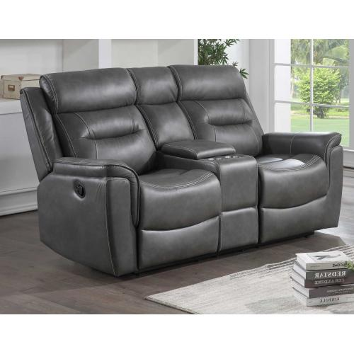 Nash Manual Reclining Console Loveseat