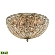 Elizabethan 10-Light Flush Mount in Dark Bronze with Clear Crystal - Includes LED Bulbs