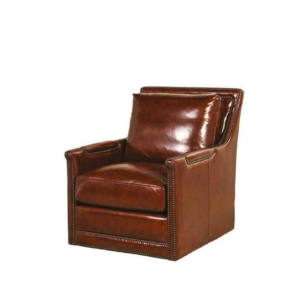 See Details - Prescott Swivel Chair in Brooklyn Saddle