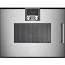 200 Series Combi-microwave Oven 24'' Gaggenau Metallic, Door Hinge: Left, Door Hinge: Left