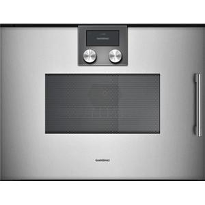 Gaggenau200 Series Combi-microwave Oven 24'' Gaggenau Metallic, Door Hinge: Left, Door Hinge: Left