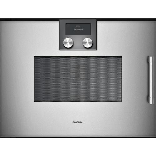 Product Image - 200 Series Combi-microwave Oven 24'' Door Hinge: Left, Door Hinge: Left, Gaggenau Metallic