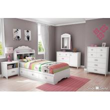 Mates Platform Storage Bed with 3 Drawers - Pure White