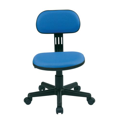 Student Task Chair In Blue Fabric