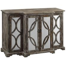 See Details - Galloway 4 Door Rustic Wood and Mirror Sideboard
