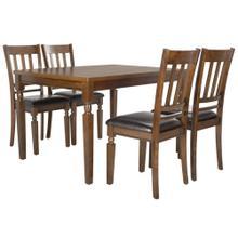 Kodiak 5 Piece Dining Set - Light Oak / Black