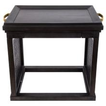 Paloma Ebony Side Table & Serving Tray 2 in 1
