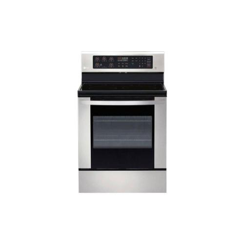 LG - 6.3 cu. ft. Electric Single Oven Range with EasyClean®