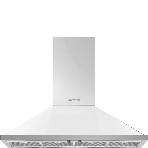 "48"" Portofino Chimney Hood, White"