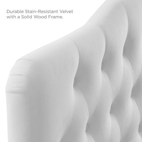Modway - Annabel Full Diamond Tufted Performance Velvet Headboard in White