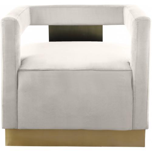 "Armani Velvet Accent Chair - 31.5"" W x 28"" D x 28"" H"