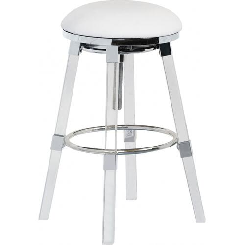 "Venus Faux Leather Adjustable Bar  Counter Stool - 18"" W x 18"" D x 25"" - 30"" H"