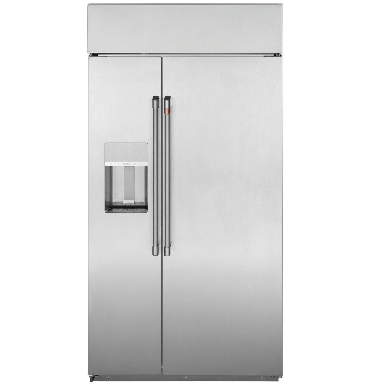 "Cafe Appliances48"" Smart Built-In Side-By-Side Refrigerator With Dispenser"