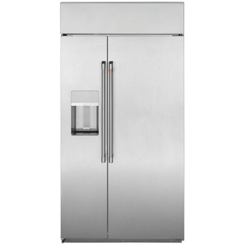 """48"""" Smart Built-In Side-by-Side Refrigerator with Dispenser"""