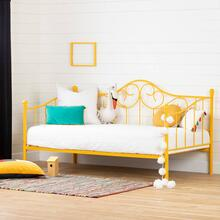 Metal Daybed with Metal Slats - Yellow
