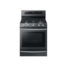 5.8 cu. ft. Freestanding Gas Range with True Convection and Steam Reheat in Black Stainless Steel