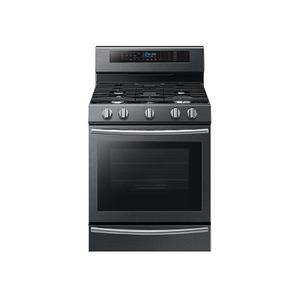 5.8 cu. ft. Freestanding Gas Range with True Convection and Steam Reheat in Black Stainless Steel Product Image