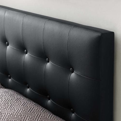 Emily King Upholstered Vinyl Headboard in Black