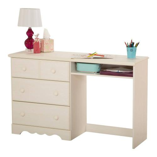 Desk with 3 Drawers - White Wash