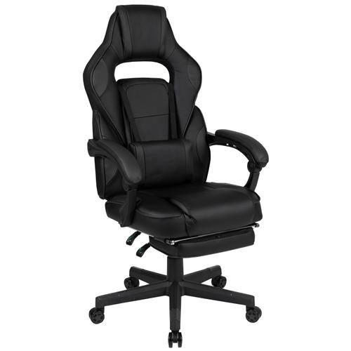 Gallery - X40 Gaming Chair Racing Ergonomic Computer Chair with Fully Reclining Back\/Arms, Slide-Out Footrest, Massaging Lumbar - Black