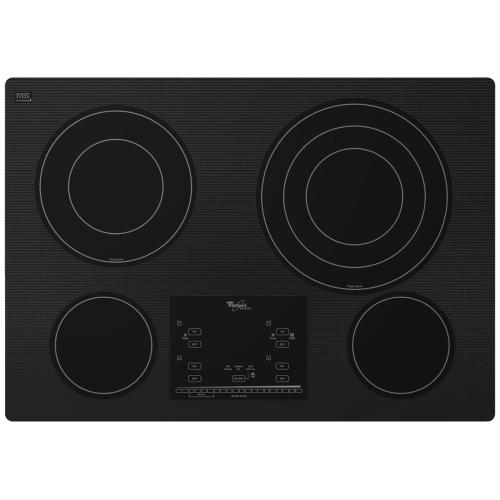 """Whirlpool - Gold® 30-inch Electric Ceramic Glass Cooktop with 12""""/9""""/6"""" Triple Radiant Element- IN STORE ONLY (FLOOR MODEL)"""