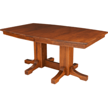 See Details - Frederick Double Pedestal Table Self Storing