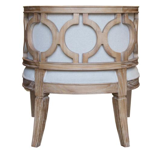 Capris Furniture - Tub Chair, Available in Coastal Brown or Coastal Grey Finish.