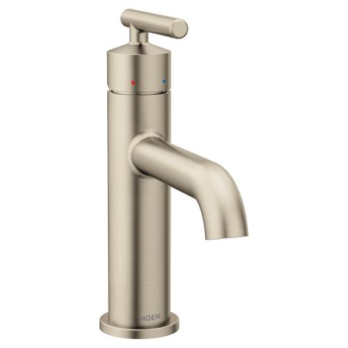 Gibson Brushed nickel one-handle high arc bathroom faucet