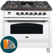 36 Inch Ocean Blue Dual Fuel Natural Gas Freestanding Range