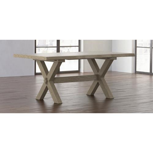 Crossbuck Oak Live Edge Dining Table
