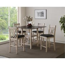 See Details - Paige 5 Pc Bisque Counter Height Dinette Set By New Classic, Model D118