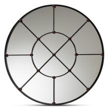 See Details - Baxton Studio Ohara Modern and Contemporary Black Finished Metal Accent Wall Mirror