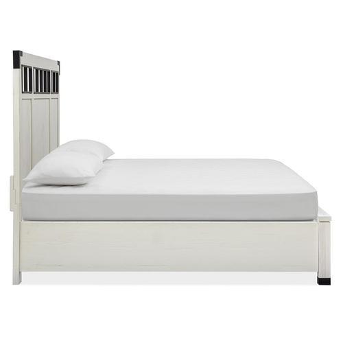 Magnussen Home - Complete Cal.King Panel Bed w/Metal/Wood Headboard