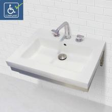 View Product - Lilac Wall-mount Rectangular Bathroom Sink With Stainless Steel Mounting Bracket