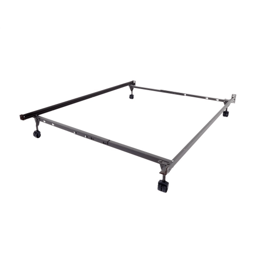 Insta-Lock I-114XLW Twin/Full/Queen Bed Frame with Rollers