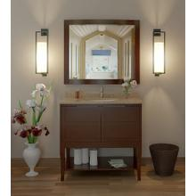 Aura Solid Wood Bathroom Vanity - 36 Inch