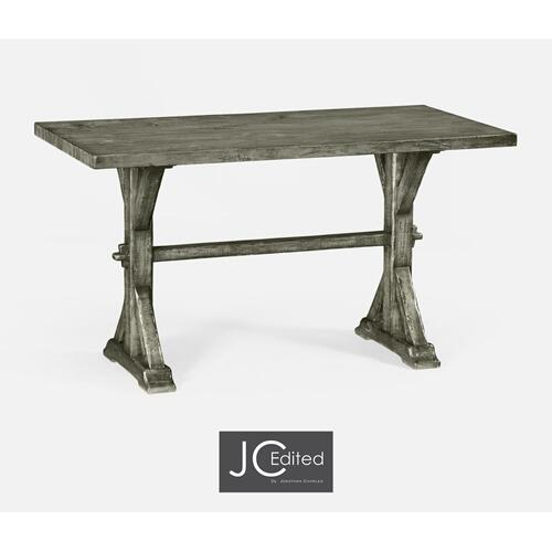 "54"" Solid Antique Dark Grey Dining Table"