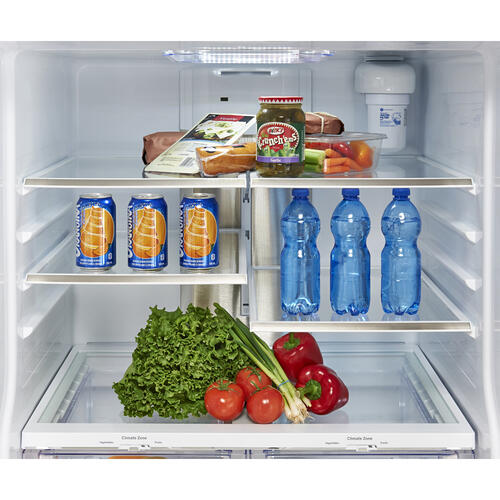 GE Appliances Canada - GE Profile 20.8 Cu. Ft. Energy Star French Door Refrigerator with Factory Installed Icemaker Slate - PNE21NMLKES