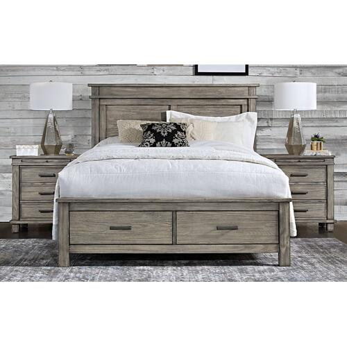 A America - QUEEN STORAGE BED