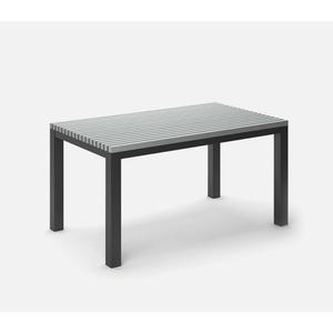 "35.5"" x 60"" Rectangular Cafe Table (no Hole) Ht: 30"" Post Aluminum Base (Model # Includes Both Top & Base)"
