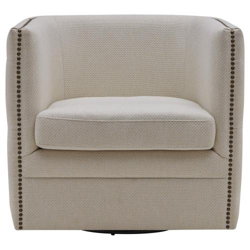 Product Image - Leslie Fabric Swivel Tufted Accent Arm Chair, Cardiff Cream