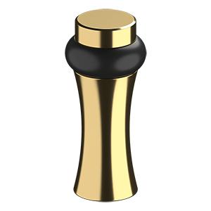 "ROUND UNIVERSAL FLOOR BUMPER 3-1/2"", DECORATIVE, SOLID BRASS - PVD Polished Brass"