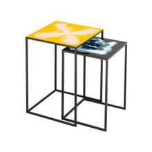 View Product - Enamel Side Tables - Set of 2