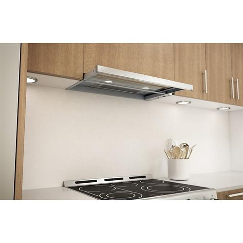 "Pisa - 30"" 290 CFM Under-Cabinet Range Hood, Stainless Steel w/ Glass"