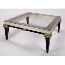 Coffee Table with Glass 42x42x20""