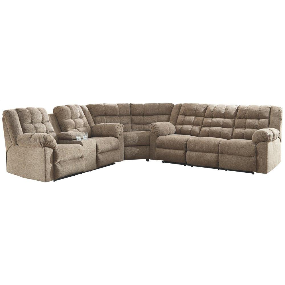 Workhorse 3-piece Reclining Sectional