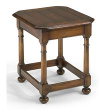 Octagonal Dark Walnut Side Table