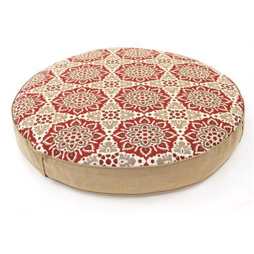 Hanover Hanover Medalion Reversible Ottoman Cushion in Berry, MEDOTT-BRY